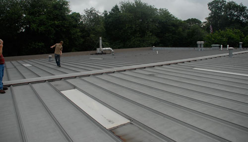 Metal roofs systems can be repaired.