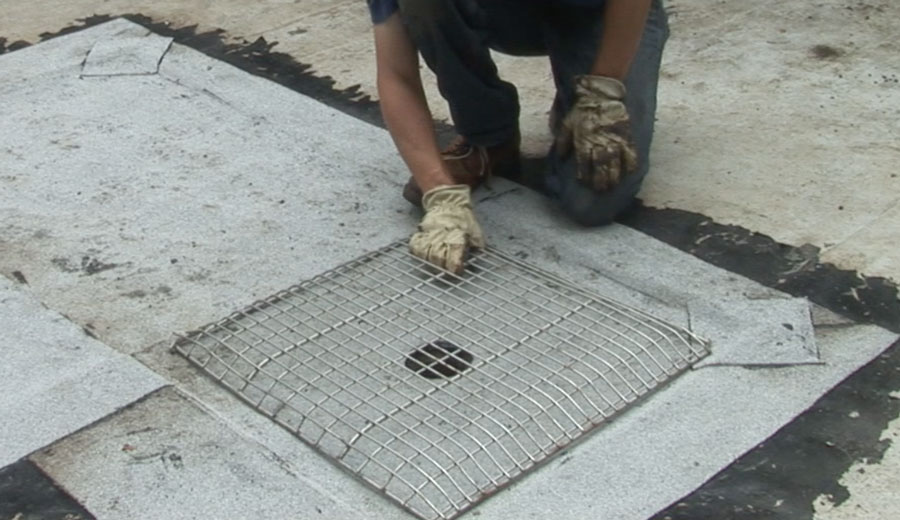 Flat Roof Drains and Strainers - This customized drain strainer improves drainage systems and the life of the roof.