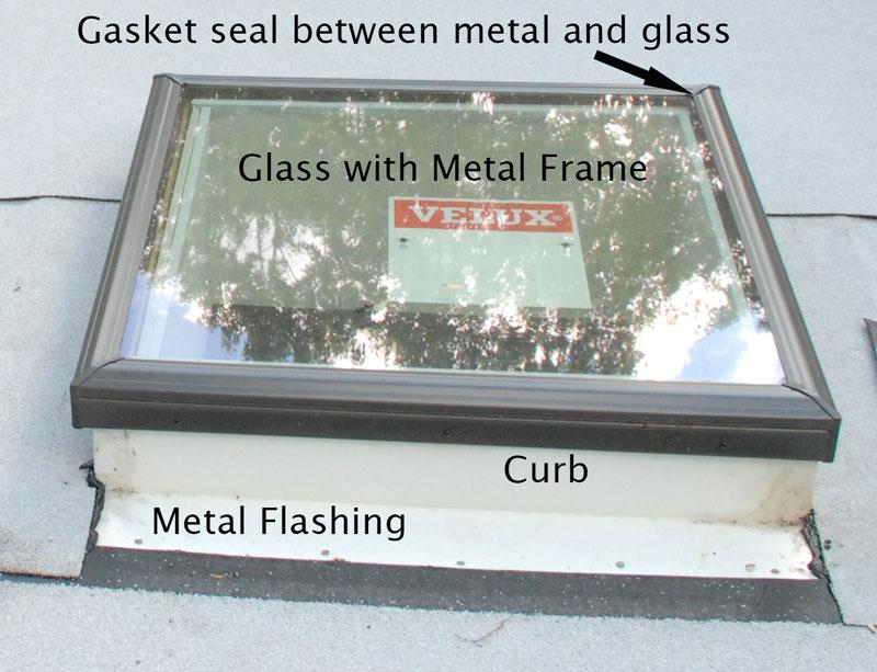 Skylight with metal frame