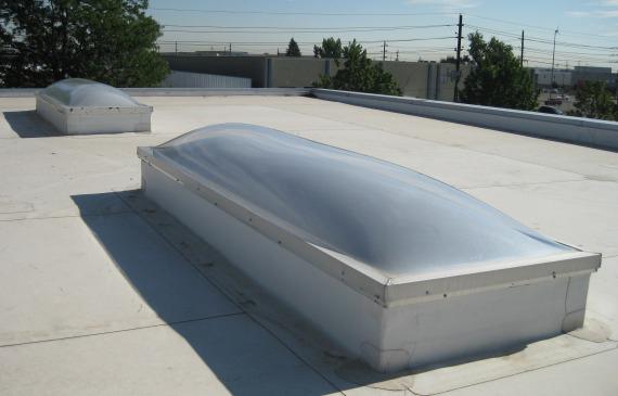 Plexiglass skylight