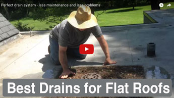 Improving a drain on a flat roof