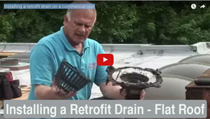 Installing a Retrofit Drain on a flat roof - Watch Video