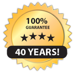 All our roofs comes with a 40 year warrantee