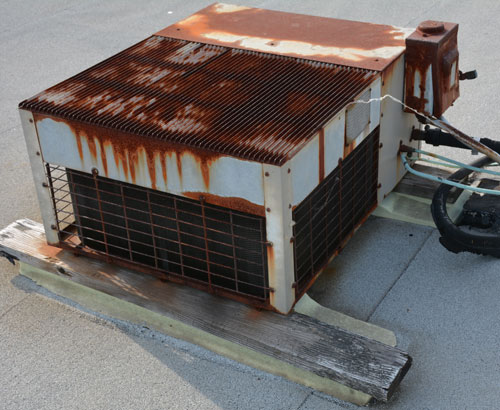 Remove old a/c units prior to the Installation of a new roof