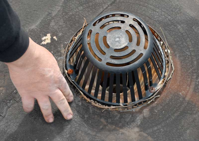 Plastic roof drain strainers not a good idea