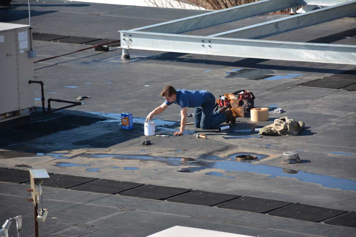 EPDM Roofing - Disadvantage-constant repair due ultraviolet degradation of an EPDM roof