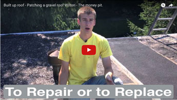 Deciding when to replace or repair a flat roof