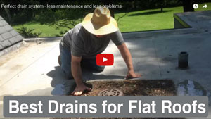 Best draining system for a flat roof - See this video about a drain that was lowerde 15 years ago