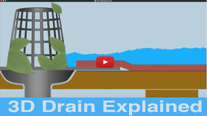 3D Video demonstrating the best drain and strainer system