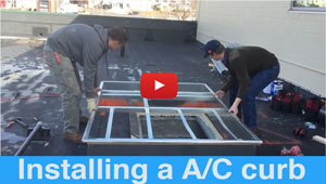 A/C Unit Installed on an EPDM Roofing System