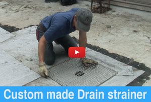 Flat Roof Drain Strainers on Commercial Roofs