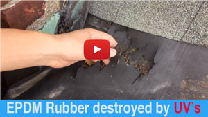 EPDM Rubber destroyed by ultraviolet rays