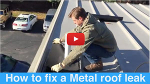 Metal roof Repair - easy and permanently