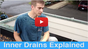 Explaing why inner roof drains are important