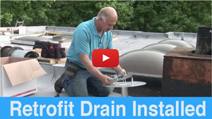Drains for flat roofs - Installing a Retrofit drain demonstration