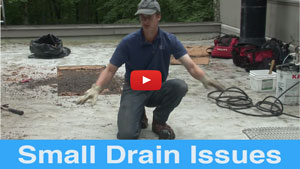 Small Drain Issues - Very common problem on flat roofs