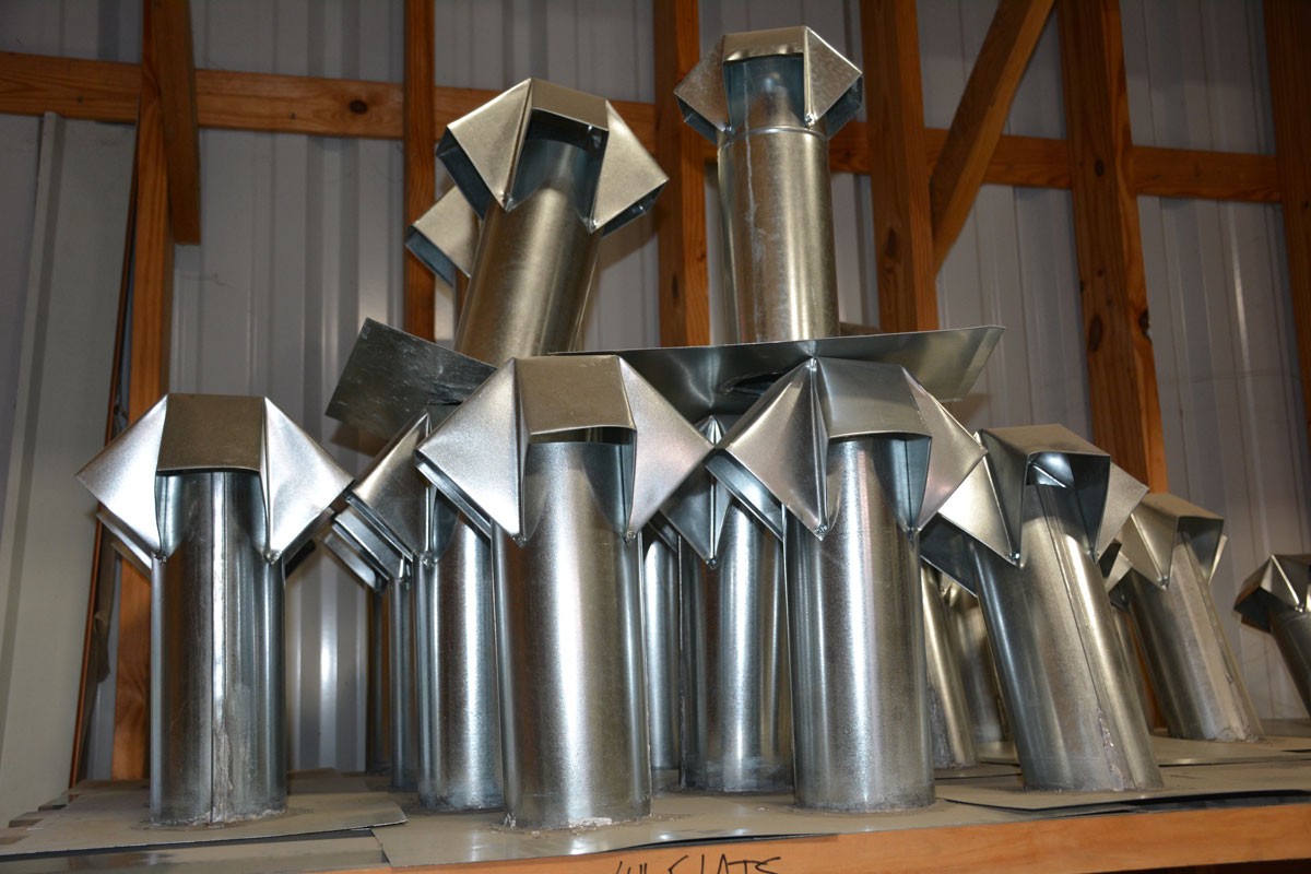 Vents made by Clean Cut roofing Metal Shop