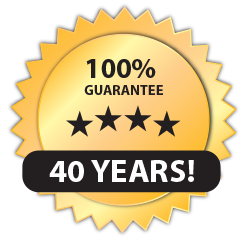 All our roof installations comes with a 40 year warrantee