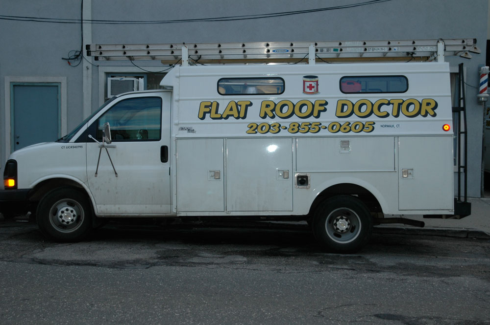 Flat Roof Doctor Truck - making Roof Repairs for 40 years