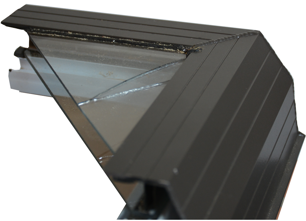 Glass-skylight-gasket leak repair